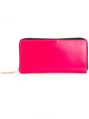 Кошелек на молнии со вставкой Comme Des Garçons Wallet. Цвет: розовый и фиолетовый