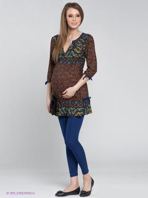 Леггинсы для беременных ФЭСТ. Цвет: синий