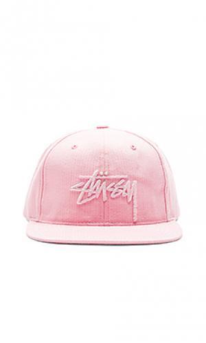 Шляпа stock Stussy. Цвет: розовый