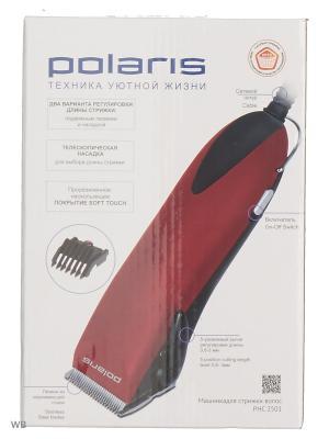 Машинка для стрижки Polaris PHC 2501 красный 9Вт (насадок в компл:1шт). Цвет: красный