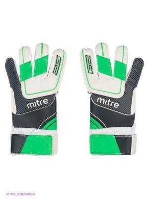 Перчатки вратарские MITRE Anza G2 юниорские. Цвет: черный, зеленый, белый