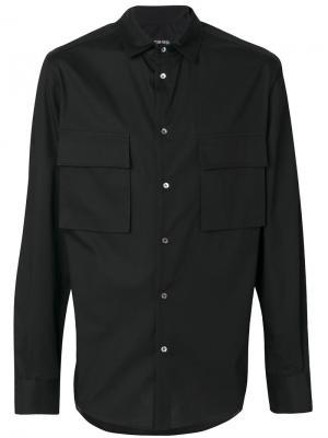 Рубашка с накладными карманами Tom Rebl. Цвет: чёрный