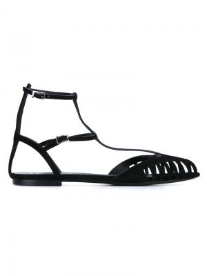 Сандалии с ремешком на щиколотке Giuseppe Zanotti Design. Цвет: чёрный