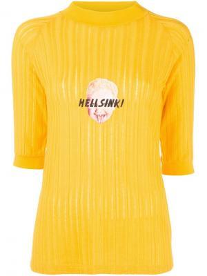 Топ с принтом Aalto. Цвет: жёлтый и оранжевый