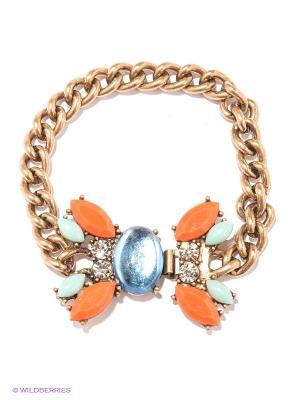 Браслет Milana Style. Цвет: золотистый, серо-зеленый, светло-голубой, оранжевый