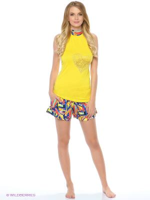Пижама NICOLETTA. Цвет: желтый