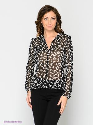 Блузка MELANY. Цвет: черный, кремовый