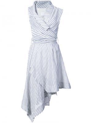 Полосатое платье Marlene Acler. Цвет: синий