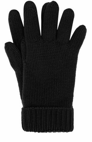 Шерстяные перчатки Il Trenino. Цвет: черный