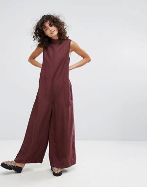 Waven Комбинезон с широкими штанинами. Цвет: фиолетовый