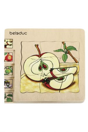 Развивающий пазл Яблоко Beleduc. Цвет: мультицвет