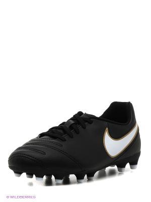 Бутсы JR TIEMPO RIO III FG Nike. Цвет: черный