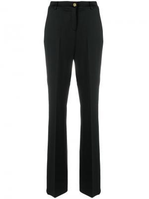 Расклешенные брюки Cavalli Class. Цвет: чёрный