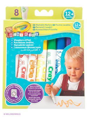 Набор цветных смывающихся фломастеров для малышей Crayola. Цвет: желтый