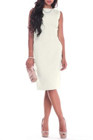 Платье Laura Bettini. Цвет: молочный