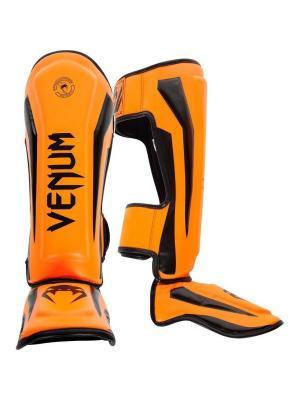 Щитки Venum Elite Neo Orange. Цвет: оранжевый