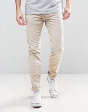 Replay Узкие джинсы песочного цвета. Цвет: бежевый