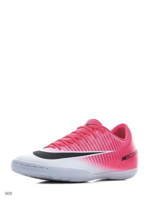 Бутсы MERCURIALX VICTORY VI IC Nike. Цвет: розовый