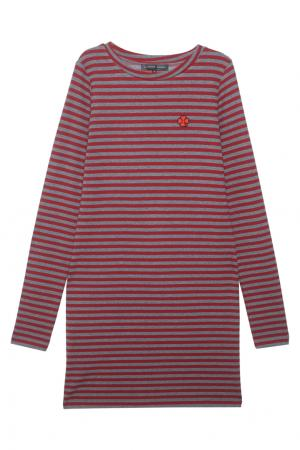 Платье в полоску Alexander Terekhov. Цвет: темно-серый, красный