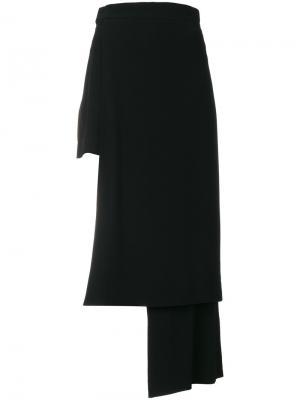 Асимметричные брюки Balmain. Цвет: чёрный