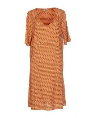 Платье до колена SIYU. Цвет: оранжевый