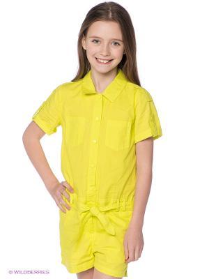 Комбинезон S`Cool. Цвет: желтый