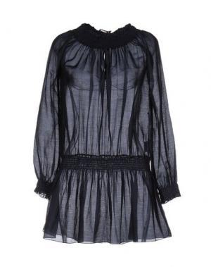 Короткое платье NIOI. Цвет: темно-синий