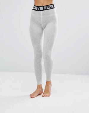 Calvin Klein Леггинсы с логотипом. Цвет: серый
