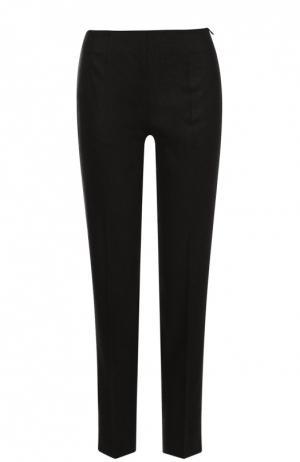 Укороченные брюки прямого кроя со стрелками Colombo. Цвет: темно-серый