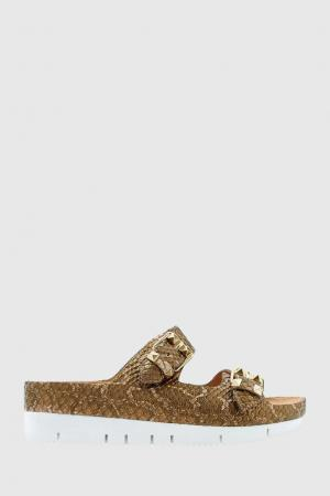 Кожаные сандалии Tilda ASH. Цвет: золотой