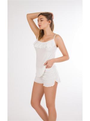 Комплект жен (топ+шорты) Amoret. Цвет: кремовый