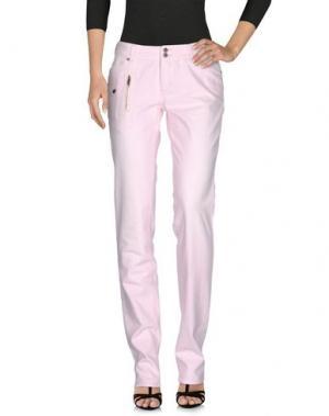 Джинсовые брюки GALLIANO. Цвет: светло-розовый