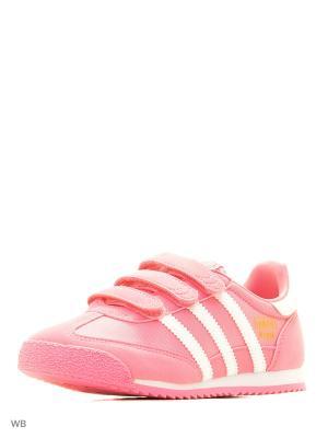 Кроссовки дет. спорт. DRAGON OG CF C Adidas. Цвет: розовый