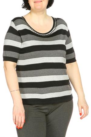 Блуза Elisa Fanti. Цвет: полосатый, серо-черный