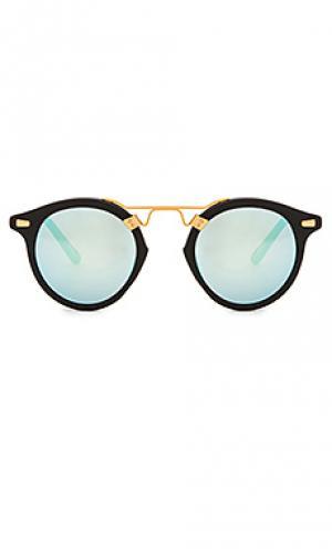 Солнцезащитные очки st. louis KREWE du optic. Цвет: черный