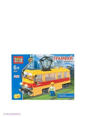 Конструктор Трамвай Город мастеров. Цвет: синий, красный, желтый