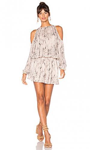 Платье lauren RAMY BROOK. Цвет: розовый