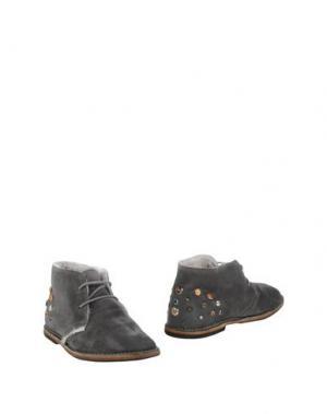 Полусапоги и высокие ботинки YAB. Цвет: свинцово-серый