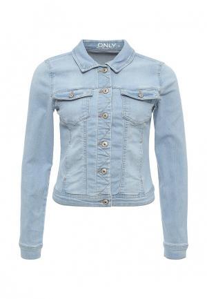 Куртка джинсовая Only. Цвет: голубой