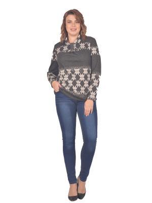 Кофточка Томилочка Мода ТМ. Цвет: серый, белый