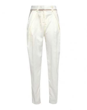 Повседневные брюки SELF-PORTRAIT. Цвет: слоновая кость