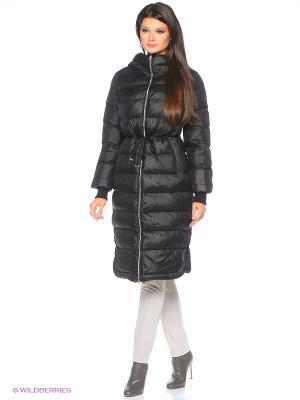 Стеганое пальто D`imma. Цвет: черный