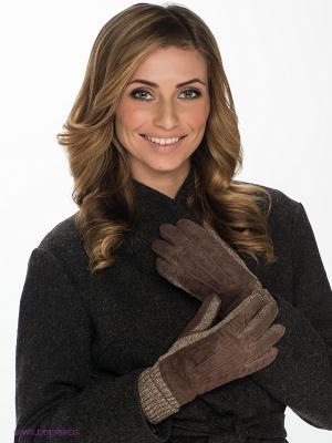 Перчатки Modo. Цвет: коричневый, бежевый