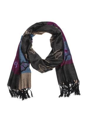 Палантин Gusachi. Цвет: коричневый, синий, фиолетовый, черный