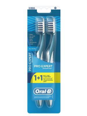 Зубная щетка Oral-B Pro-Expert. Все в одном, средняя жесткость. 1+1 - Вторая подарок. ORAL_B. Цвет: голубой