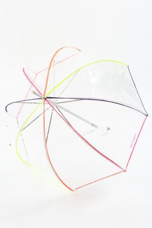Зонт трость Isotoner. Цвет: прозрачный, неон