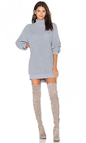 Платье свитер christina Lovers + Friends. Цвет: серый