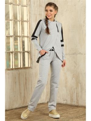 Костюм (брюки,свитшот) MONDIGO. Цвет: серый меланж