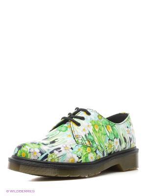 Ботинки Dr.Martens. Цвет: зеленый