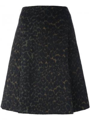 Юбка А-силуэта с леопардовым принтом Steffen Schraut. Цвет: коричневый